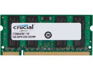 Crucial 2GB 200-Pin DDR2 SO-DIMM DDR2 667 (PC2 5300) Laptop Memory Model CT25664AC667