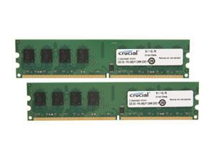 Crucial 4GB (2 x 2GB) 240-Pin DDR2 SDRAM DDR2 667 (PC2 5300) Dual Channel Kit Desktop Memory Model CT2KIT25664AA667
