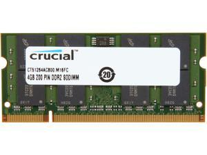 Crucial 4GB 200-Pin DDR2 SO-DIMM DDR2 800 (PC2 6400) Laptop Memory Model CT51264AC800