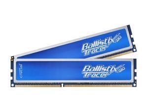 Crucial Ballistix Tracer 2GB (2 x 1GB) 240-Pin DDR3 SDRAM DDR3 1600 (PC3 12800) Desktop Memory w/ Blue LEDs Model BL2KIT12864TB1608