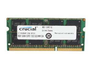 Crucial 8GB 204-Pin DDR3 SO-DIMM DDR3L 1333 (PC3L 10600) Laptop Memory Model CT102464BF1339