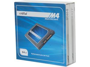 "Crucial M4 CT064M4SSD1CCA 2.5"" MLC 7mm Internal Solid State Drive (SSD) with Data Transfer Kit"