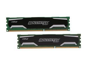 Ballistix Sport 4GB (2 x 2GB) 240-Pin DDR3 SDRAM DDR3 1600 (PC3 12800) Desktop Memory Model BLS2KIT2G3D1609DS1S00
