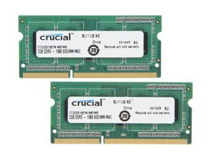 Crucial 4GB (2 x 2GB) DDR3 1066 (PC3 8500) Memory for Apple Model CT2K2G3S1067M