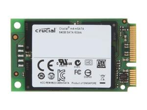 Crucial M4 CT064M4SSD3 64GB Mini-SATA (mSATA) MLC Internal Solid State Drive (SSD)