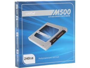 "Crucial M500 240GB SATA 2.5"" 7mm (with 9.5mm adapter) Internal Solid State Drive CT240M500SSD1"