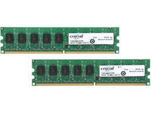 Crucial 4GB (2 x 2GB) 240-Pin DDR2 SDRAM ECC Unbuffered DDR2 800 (PC2 6400) Upgrade for the ASUS P5MT-M Motherboard Model CT2KIT25672AA80EA