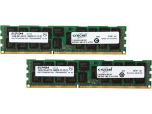 Crucial 32GB (2 x 16GB) 240-Pin DDR3 SDRAM ECC ECC Registered DDR3 1866 (PC3 14900) Server Memory Model CT2K16G3ERSDD4186D