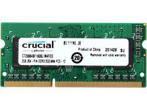 Crucial 2GB 204-Pin DDR3 SO-DIMM DDR3L 1333 (PC3L 10600) Laptop Memory Model CT25664BF160BJ