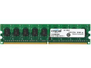 Crucial 1GB 240-Pin DDR2 SDRAM ECC Unbuffered DDR2 800 (PC2 6400) Server Memory Model CT12872AA80E