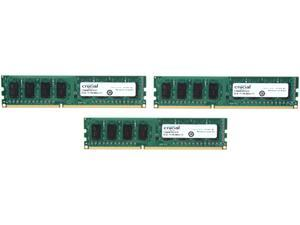 Crucial 6GB (3 x 2GB) 240-Pin DDR3 SDRAM DDR3 1600 (PC3 12800) Desktop Memory Model CT3KIT25664BA160B