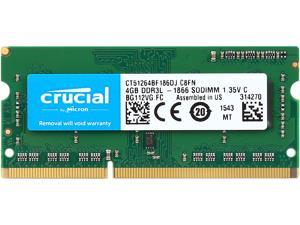 Crucial 4GB 204-Pin DDR3 SO-DIMM DDR3L 1866 (PC3L 14900) Memory Model CT51264BF186DJ