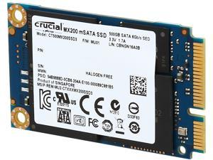 Crucial MX200 mSATA 500GB SATA 6Gbps (SATA III) Micron 16nm MLC NAND Internal Solid State Drive (SSD) CT500MX200SSD3