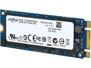 Crucial MX200 M.2 Type 2260DS (Double Sided) 250GB SATA 6Gbps (SATA III) Micron 16nm MLC NAND Internal Solid State Drive (SSD) CT250MX200SSD6