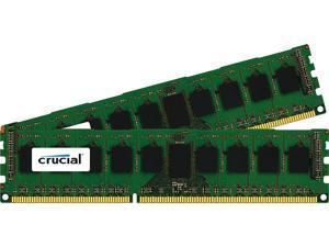 Crucial 8GB (2 x 4GB) 240-Pin DDR3 SDRAM ECC Unbuffered DDR3 1600 (PC3 12800) Server Memory Model CT2KIT51272BD160BJ