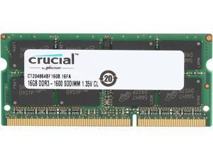 Crucial 16GB 204-Pin DDR3 SO-DIMM DDR3L 1600 (PC3L 12800) Laptop Memory Model CT204864BF160B
