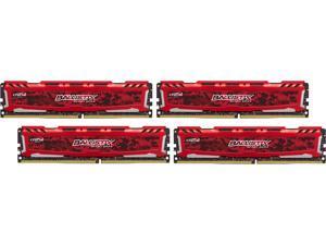 Ballistix Sport LT 16GB (4 x 4GB) 288-Pin DDR4 SDRAM DDR4 2400 (PC4 19200) Desktop Memory Model BLS4K4G4D240FSE