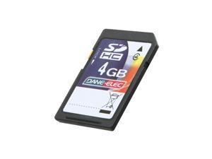 DANE-ELEC 4GB Secure Digital High-Capacity (SDHC) Flash Card Model DA-SD-4096-R
