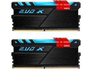 GeIL EVO X 16GB (2 x 8GB) 288-Pin DDR4 SDRAM DDR4 3000 (PC4 24000) Desktop Memory Model GEX416GB3000C15ADC