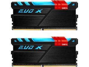 GeIL EVO X 16GB (2 x 8GB) 288-Pin DDR4 SDRAM DDR4 3200 (PC4 25600) Desktop Memory Model GEX416GB3200C16DC