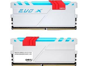 GeIL EVO X 16GB (2 x 8GB) 288-Pin DDR4 SDRAM DDR4 3000 (PC4 24000) Memory (Desktop Memory) Model GEXW416GB3000C15ADC