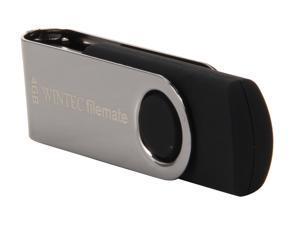 Wintec FileMate 4GB USB 2.0 Swivel Flash Drive (Black) Model 3FMSUB4GWB-R