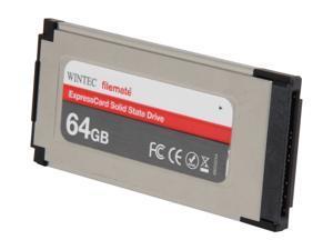 Wintec FileMate ExpressCard 34 64GB ExpressCard MLC Internal / External Solid State Drive (SSD) 3FMS4E064JM-R