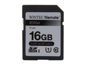 Wintec Filemate Elite 16GB Secure Digital High-Capacity (SDHC) Flash Card Model 3FMSD16GBU1E-R