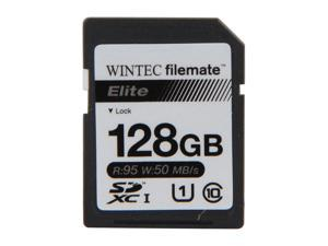 Wintec Filemate Elite 128GB Secure Digital Extended Capacity (SDXC) Flash Card Model 3FMSX128GU1E-R