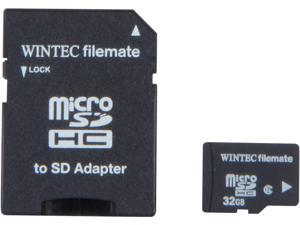 Wintec FileMate 32GB Micro SDHC Flash Card with SDHC Adapter Model 3FMUSD32GB-R