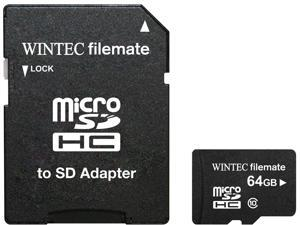 Wintec FileMate Mobile Professional 64GB microSDXC Flash Card with SD Adapter Model 3FMUSD64GBC10-R