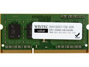 Wintec Value 4GB 204-Pin DDR3 SO-DIMM DDR3 1600 (PC3 12800) Laptop Memory Model 3VH160011S8-4GR