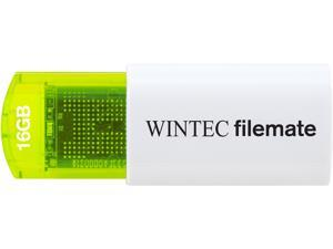 Wintec FileMate Mini Plus 16GB USB Flash Drive Model 3FMUSB16GMPGN-R