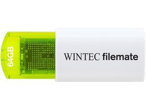Wintec FileMate Mini Plus 64GB USB Flash Drive Model 3FMUSB64GMPGN-R