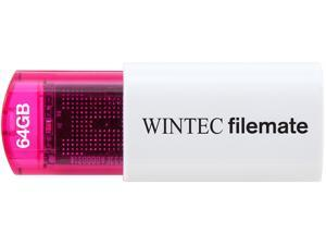 Wintec FileMate Mini Plus 64GB USB Flash Drive Model 3FMUSB64GMPRD-R