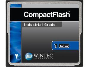 Wintec 1GB Compact Flash (CF) Card Industrial Grade SLC Nand Black Model 33100001GCF