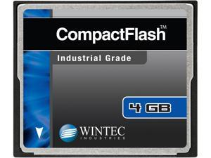 Wintec 4GB Compact Flash (CF) Card Industrial Grade SLC Nand Black Model 33100004GCF