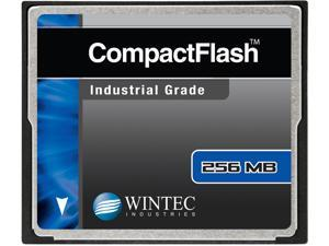 Wintec 256MB Compact Flash (CF) Card Industrial Grade SLC Nand Black Model 33100256MCF