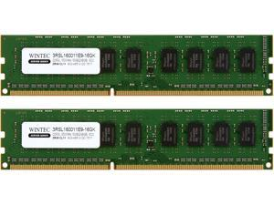 Wintec Server Series 16GB (2 x 8GB) 240-Pin DDR3 SDRAM ECC Unbuffered DDR3L 1600 (PC3L 12800) Server Memory Model 3RSL160011E9-16GK