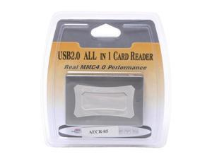 AMC AECR-05 USB 2.0 Real MMC 4.0 Performance Reader Support 43 Flash Cards