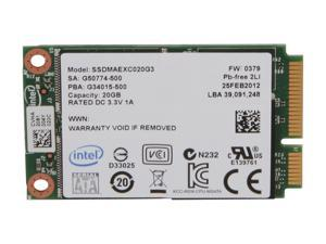 Intel 313 Series SSDMAEXC020G301 20GB Mini-SATA (mSATA) SLC Internal Solid State Drive (SSD)