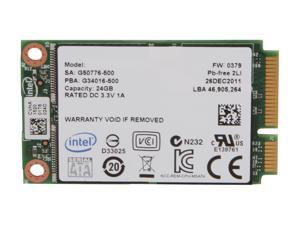 Intel 313 Series Hawley Creek SSDMAEXC024G301 mSATA SLC Internal Solid State Drive (SSD)