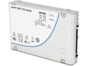 """Intel 750 Series 2.5"""" 800GB PCI-Express 3.0 x4 MLC Internal Solid State Drive (SSD) SSDPE2MW800G4X1"""