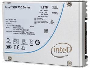 "Intel 750 Series 2.5"" U.2 (M.2 adaptor) 1.2TB PCI-Express 3.0 x4 MLC Internal Solid State Drive (SSD) SSDPE2MW012T4M2"