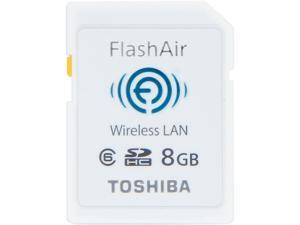 Toshiba FlashAir 8GB Wireless Flash Memory SD Card Model PFW008U-1ABW