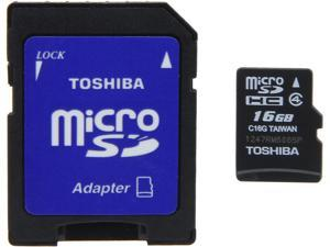 Toshiba 16GB microSDHC Flash Card Model PFM016U-1DAK