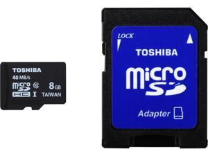 Toshiba 8GB microSDHC Memory Card Model PFM008U-2DCK