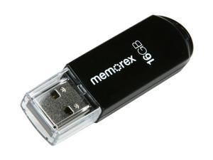 Memorex Mini TravelDrive 16GB USB 2.0 Flash Drive (Black) Model 98180