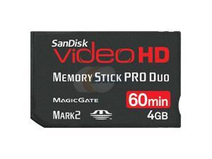 SanDisk Video HD 4GB Memory Stick Pro Duo (MS Pro Duo) Flash Card Model SDMSPDHV-004G-A15
