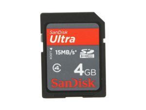 SanDisk Ultra 4GB Secure Digital High-Capacity (SDHC) Flash Card Model SDSDRH-004G-A11